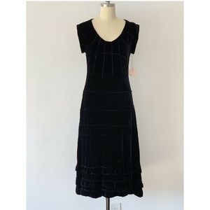 Rebecca Taylor Tier Dress Lush Velvet Rayon Size 2